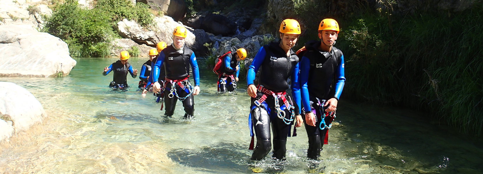 Journée canyoning à barbaira en Italie.