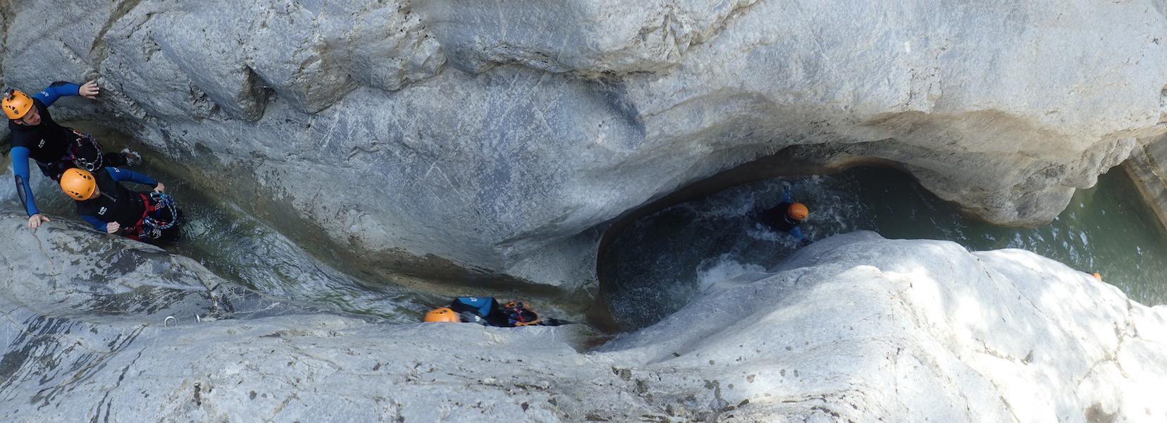 Découverte du canyon de Cramassouri dans les Alpes Maritimes proche de Nice.