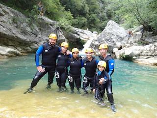 Canyon des Gorges du loup à Nice 06.