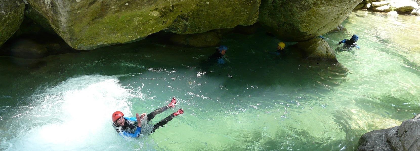 Randonnée aquatique des Gorges du loup dans les Alpes Maritimes 06 Nice.
